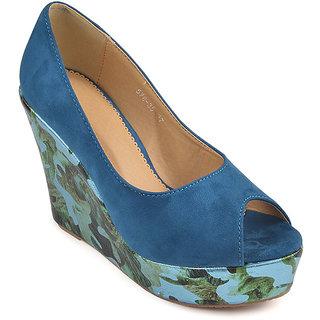 L.G. Footwear Women Blue Styles Heel (578-35-Blue)