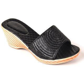 L.G. Footwear Women Black Styles Heel (F666-3-Black)