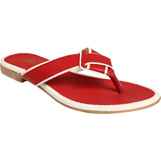Jade WomenS Red Casual Flats (JDB025-Red)