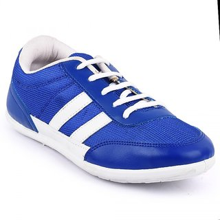 Fuel Men's Blue And White Casual Lace Up Shoe