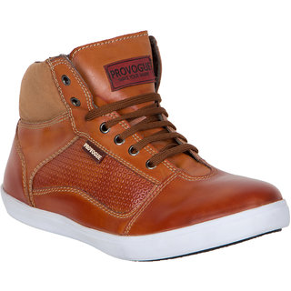 Provogue MenS Tan Casual Lace-Up Shoes (PV7093-TAN)