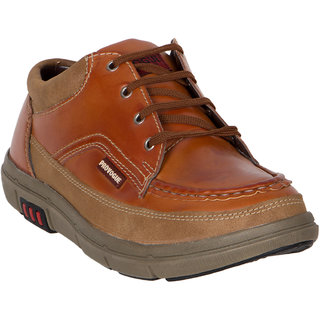 Provogue MenS Tan Casual Lace-Up Shoes (PV7136-TAN)