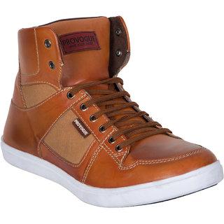 Provogue MenS Tan Casual Lace-Up Shoes (PV7131-TAN)