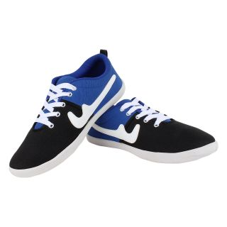 SESS BLACK/BLUE MEN/BOYS Canvas CASUAL SHOE-203