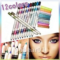 MeNow Perfect PRO Eyeliner-Eyeshadow-Lip-Liner-Waterproof-Glitter-Makeup-Pen-12-Color-1Set-100 Genuine Product