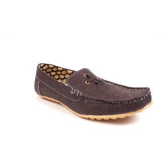 Monaz MenS Brown Casual Loafers (MZC-0106)