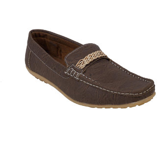 Monaz MenS Brown Casual Loafers (MZL-1143)