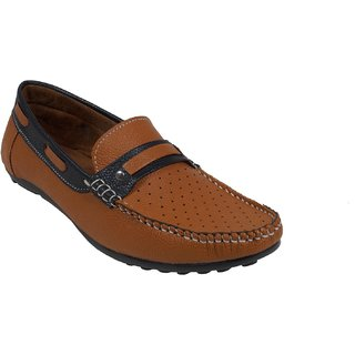 Monaz MenS Brown Casual Loafers (MZL-1146)