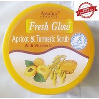 New Advanced Herbal Apricot And Turmeric Skin Whitening Face And Body Scrub With Vitamin E - 200 Ml