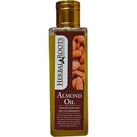 Herbal Roots Pure Almond Oil - Health, Hair And Skin Nourishment - 100 Ml