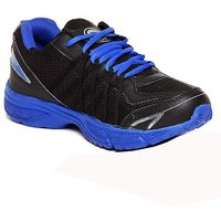 Micato MenS Black  Blue Sports Shoes (EAGLE-BLACK-R.BLUE)