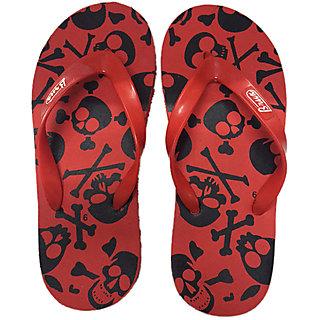 Brux Mens Red,Black Flip Flops