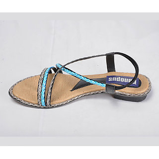 Canopus Black With Blue Fancy Wear For Womens