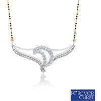 0.37ct Natural White Diamond Mangalsutra 925 Sterling Silver Mangalsutra M-0045