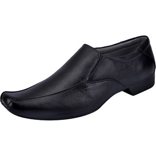 Fausto MenS Black Formal Slip On Shoes (FST 504 BLACK)