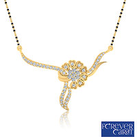 0.34ct Natural White Diamond Mangalsutra 14K Hallmarked Gold Mangalsutra M-0048G