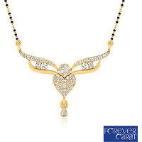 0.28ct Natural Round Diamond Mangalsutra 14K Hallmarked Gold Mangalsutra M-0051G
