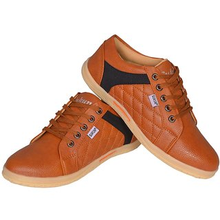 Sukun MenS Tan Casual Lace-Up Shoes (DMD9223TAN)