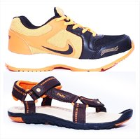 Combo Of Finley Sport Shoes With Floater Orange