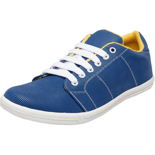 Fausto MenS Blue Casuals Lace-Up Shoes (FST 1002 ROYAL BLUE)