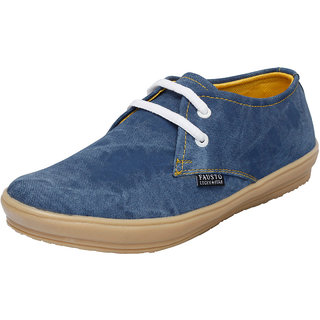 Fausto MenS Blue Casuals Lace-Up Shoes (FST 1010 BLUE)