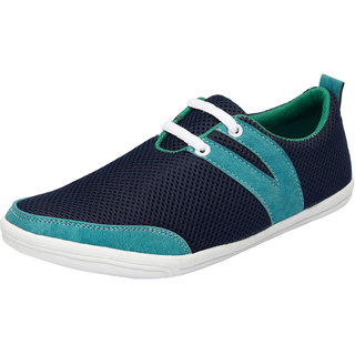 Fausto MenS Blue Casuals Lace-Up Shoes (FST 1012 NAVY BLUE)