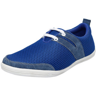 Fausto MenS Blue Casuals Lace-Up Shoes (FST 1012 ROYAL BLUE)