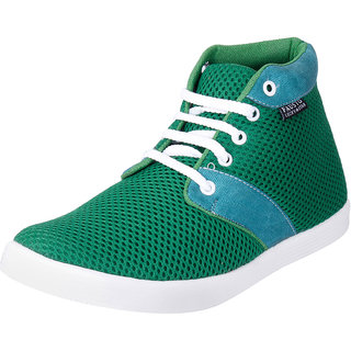 Fausto MenS Green Sneakers Lace-Up Shoes (FST 1033 GREEN)