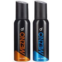 Mezno Fragrance Deodorant Body Spray For Men- No Gas- Pack Of 2- 120ml Each - 92266446