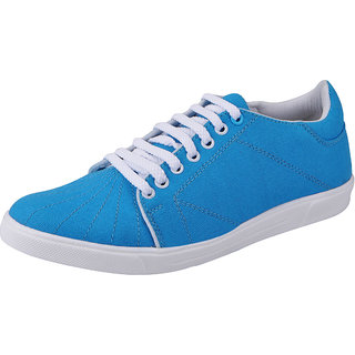 Fausto MenS Blue Sneakers Lace-Up Shoes (FST 1076 SKY BLUE)