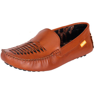 Fausto MenS Brown Casual Loafers (FST 768 TAN)