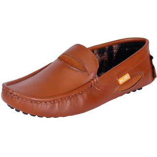 Fausto MenS Brown Casual Loafers (FST 772 TAN)