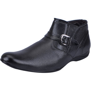 Fausto MenS Black Formal Slip On Shoes (FST 9009 BLACK)