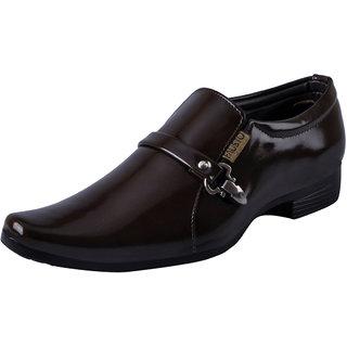 Fausto MenS Brown Formal Slip On Shoes (FST K6052 BROWN)