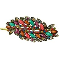 Sarah Oval Design Multi Colour Hair Clip For Women