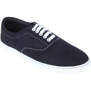 Monkx MenS Black Casuals Lace-Up Shoes (BLX-02-BLACK)