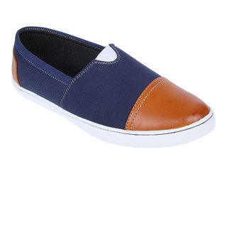 Monkx MenS Blue Casuals Slip On Shoes (BLX-29-BLUE)