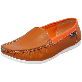 Fausto MenS Brown Casual Loafers (FST 1003 TAN)