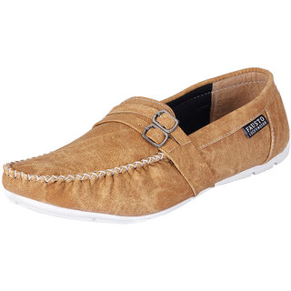 Fausto MenS Brown Casual Loafers (FST 1005 TAN)
