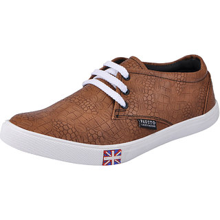 Fausto MenS Tan Casuals Lace-Up Shoes (FST 1078 TAN)