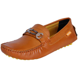 Fausto MenS Brown Casual Loafers (FST 797 TAN)