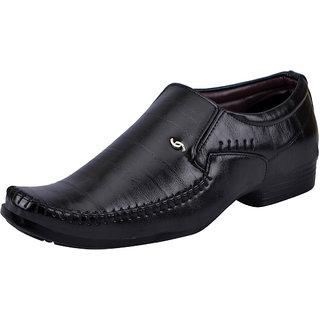 Fausto MenS Black Formal Slip On Shoes (FST K6071 BLACK)