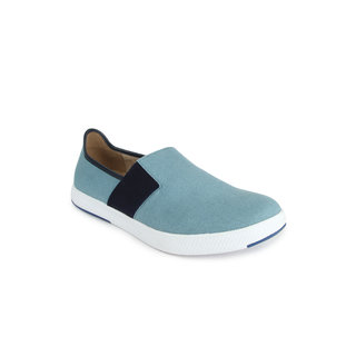 Spunk Adler Light Blue,White Casual Slip On Shoes (Adler)