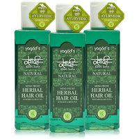 Khadi Mind-Fresh Herbal Hair Oil Pack Of 3