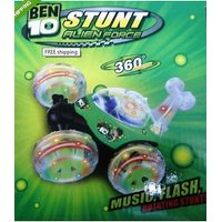 BEN 10 RADIO CONTROL RECHARGABLE LIGHT MUSIC STUNT CAR , (GIFT KIDS TOYS )