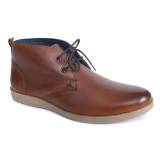 Monkx MenS Tan Casuals Lace-Up Shoes (BTS-001-TAN)