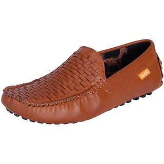 Fausto MenS Brown Casual Loafers (FST 744 TAN)