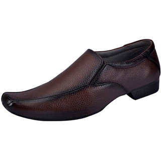 Fausto MenS Brown Formal Slip On Shoes (FST 504 BROWN)