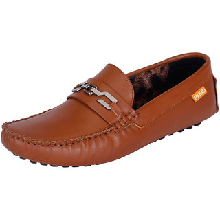 Fausto MenS Brown Casual Loafers (FST 333 TAN)