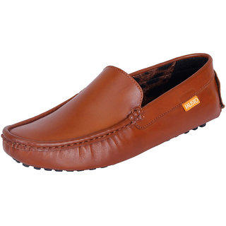 Fausto MenS Brown Casual Loafers (FST 444 TAN)